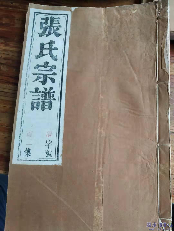 《溧水家谱见闻录》之《光裕堂·张氏宗谱》