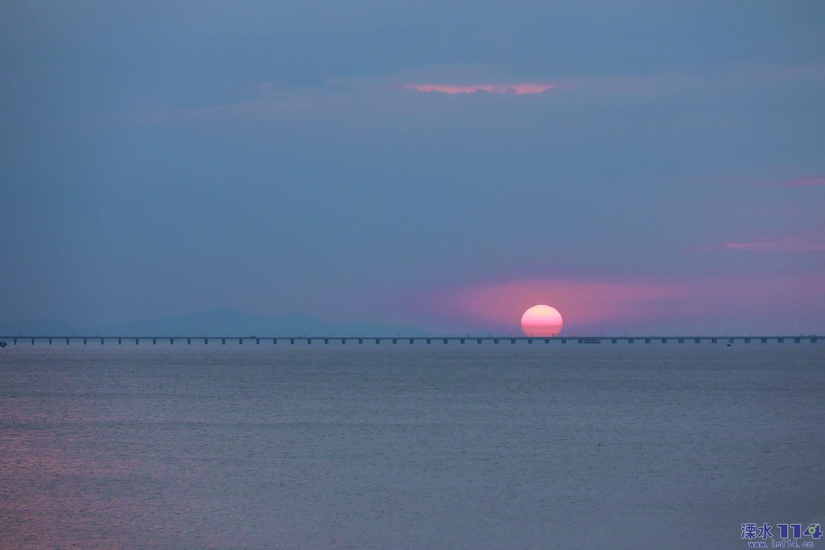 今天石臼湖的落日余晖